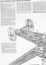 Cut out of Consolidated B-24 Liberator 4-Engine Heavvy Bomber WWII Rear Half